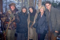Defiance - Jonjo, Tilly Craig (Jonjo's Aunt), Alexa Davalos, Leila O'Neill (Jonjo's mum) and Jamie Bell