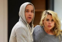 Jonjo and Billie Piper rehearsing for the Effect