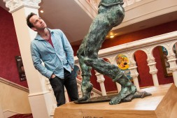 Jonjo unveiling the Mercutio Statue at Newcastle Theatre Royal - 7