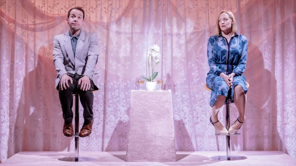 Jonjo O'Neill AND Sophie Russell in the Prudes by Anthony Neilson at The Royal Court (Credit: Manuel Harlan)