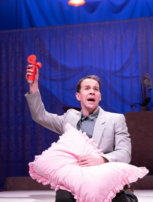 Jonjo O'Neill in the Prudes by Anthony Neilson at The Royal Court (Credit: Manuel Harlan)